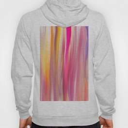 Abstract pink violet yellow watercolor brushstrokes stripes Hoody