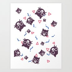 Cats and Squiggles Art Print