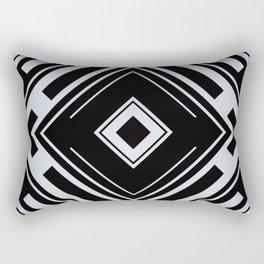 Black and White Tribal Pattern Diamond Shapes Geometric Geometry Contrast I Rectangular Pillow