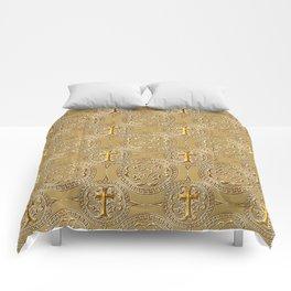 gold cross Comforters