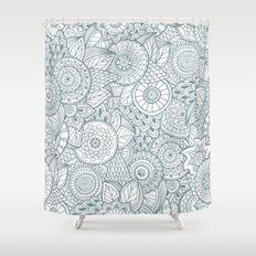 Abstract Floral Pattern Shower Curtain