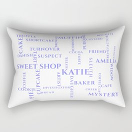 Amish Sweet Shop Mysteries Word Puzzle Rectangular Pillow