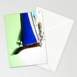 The fishing boat and the water Stationery Cards