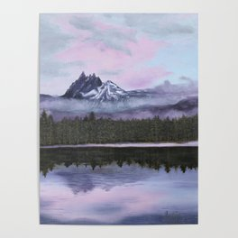 Three-Fingered Jack Looking Over Marion Lake Poster