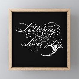 Lettering Lover (Dark) Framed Mini Art Print