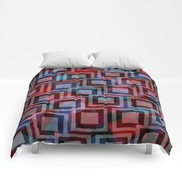 Black and White Squares Pattern 04 Comforters