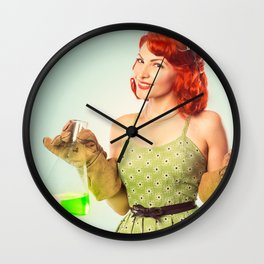 Distractingly Sexy Scientist Pinup Wall Clock