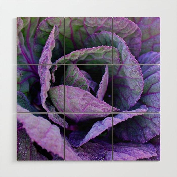 Purple Frost Wood Wall Art