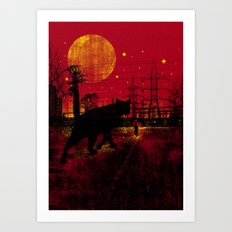 Cleo in the Dark Art Print