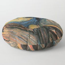 "Edvard Munch, "" The Scream "" Floor Pillow"