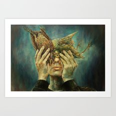 With one Stone. Art Print
