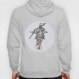 Samurai Warrior With Katana Sword Horseback Etching Hoody