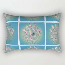 Taking Flight - Blue Pink Green & Black Palette Rectangular Pillow