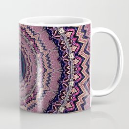 Mauve Bohemian Mandala Design Coffee Mug