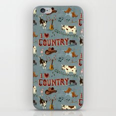 I Love Country iPhone & iPod Skin