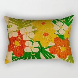 Limahuli Garden Hawaiian Floral Design Rectangular Pillow