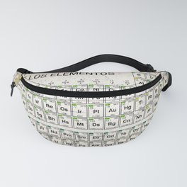 Tabla Periodica De Los Elementos Periodic Table Of The Elements Vintage Chart Silver Fanny Pack