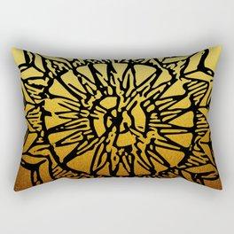 Aztec Sun Tribal Design 1 Rectangular Pillow
