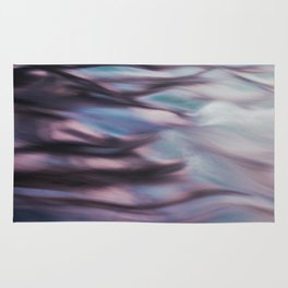 pink and blue waves Rug