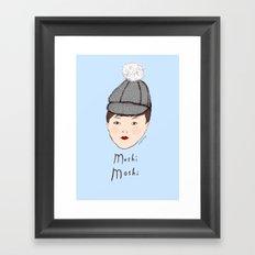 Moshi Moshi - Blue Framed Art Print