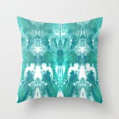 Aqua Blue Lagoon Throw Pillow