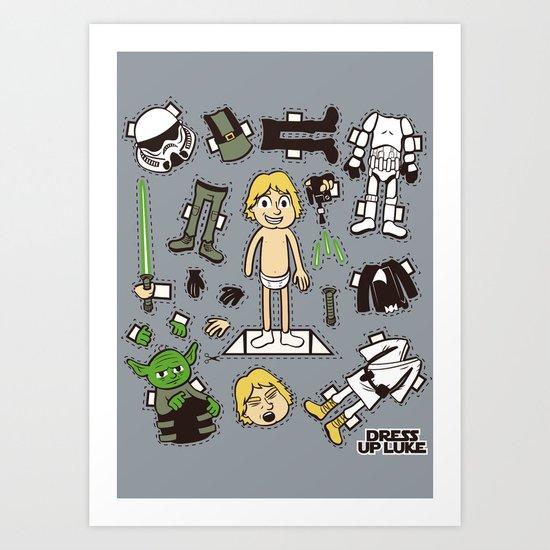 Dress up Luke Art Print