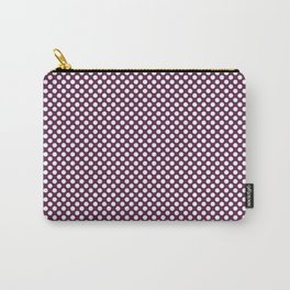 Wild Berry and White Polka Dots Carry-All Pouch