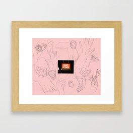 quiet please Framed Art Print