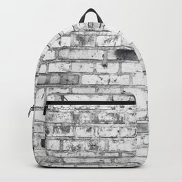 Withe brick wall Backpack