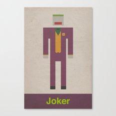 Retro Joker Canvas Print