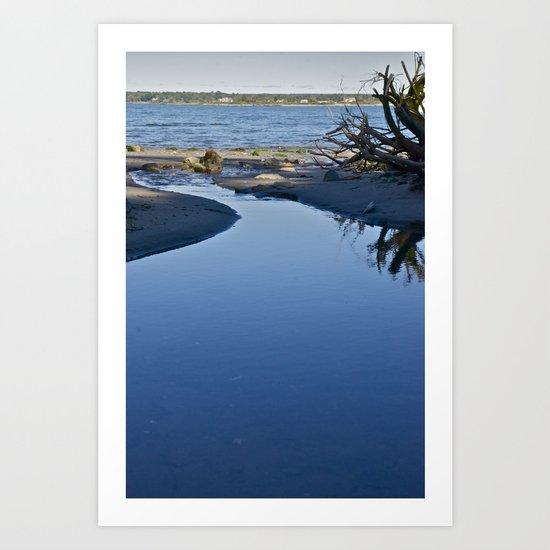 Stream & Sea Art Print