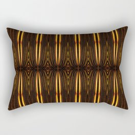 Brown Feather Mat Rectangular Pillow