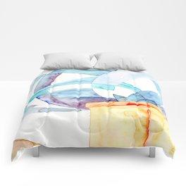 Pale Blue Skies Comforters