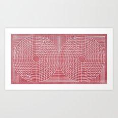 Robotic Boobs Red Art Print