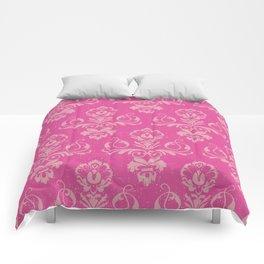 Pink Vintage Damask Comforters