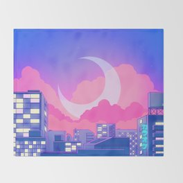 Dreamy Moon Nights Throw Blanket