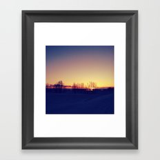 Winter Sets Framed Art Print