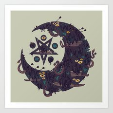 The Dark Moon Compels You to Fuck Shit Up Art Print