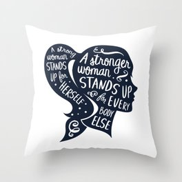 Strong Woman Feminist Feminism Protest Throw Pillow