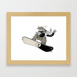 Snowboarder Framed Art Print