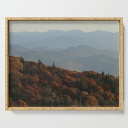 The Blue Ridge Mountains NC, Fine Art Photography Serving Tray