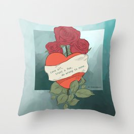 Wrong to none Throw Pillow