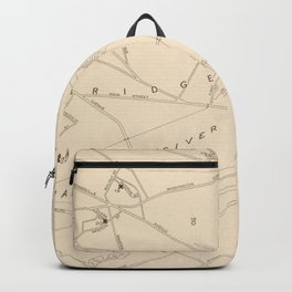 Vintage Boston George Washington Landmark Map (1932) Backpack