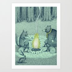 'Campfire' (Colour) Art Print