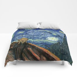 The Scream Starry Night Edvard Munch Vincent Van Gogh Comforters