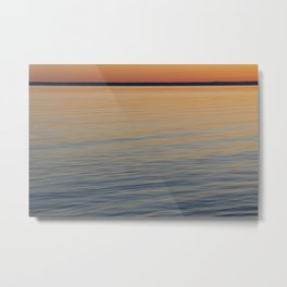 Before sunrise over the lake Metal Print