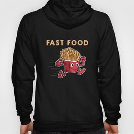 Cute & Funny Fast Food Running French Fries Hoody