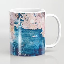Breathe Again: a vibrant mixed-media piece in blues pinks and gold by Alyssa Hamilton Art Coffee Mug