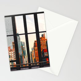 New York City Window #2-Surreal View Collage Stationery Cards