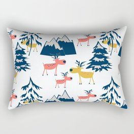 Deer in the winter forest. Rectangular Pillow